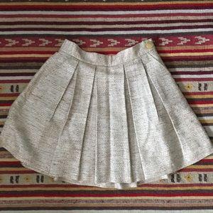 Anthropologie gold skirt